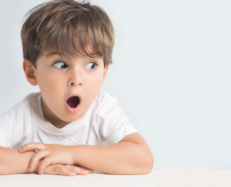 Excited Child With Mouth Open